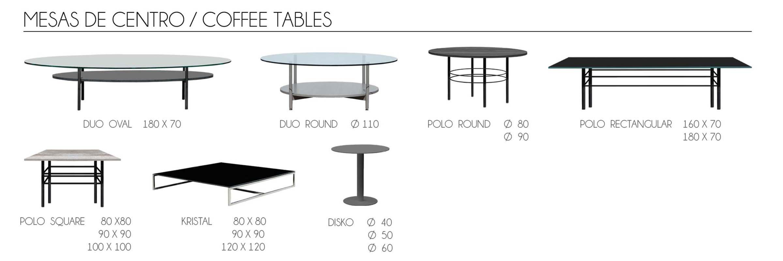 Mesas de centro/ Coffee tables