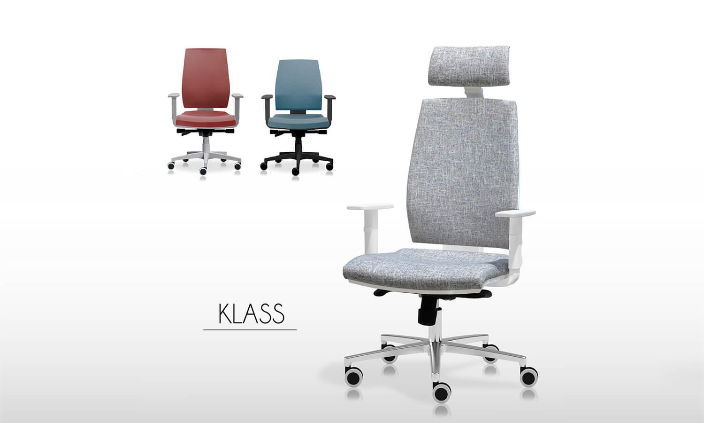 Sillas de escritorio cómodas - Linea Klass - Spazio Mobili