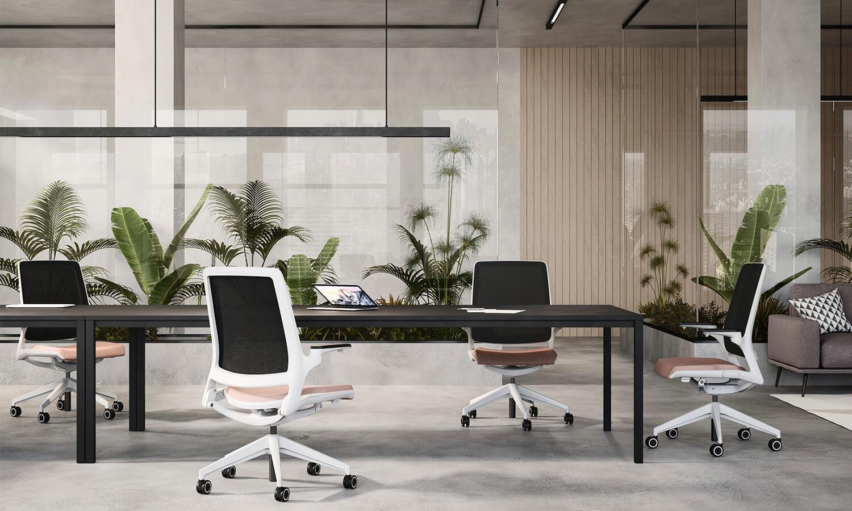 Sillas de escritorio cómodas - Linea Selfie - Spazio Mobili